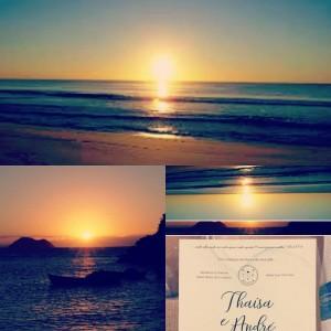 Colagem de fotos no Instagram Casamento Thaisa e André Búzios 03.12.2016